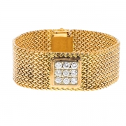 Bracelet diamants 1.40 carat 2 ors