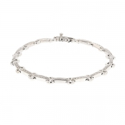 Bracelet diamants 0.40 carat en or blanc