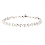 Bracelet rivière diamants 0.15 carat en or blanc