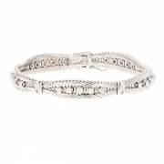 Bracelet diamants 1.10 carat en or blanc