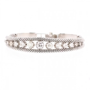 Bracelet diamants 2.87 carats en or blanc