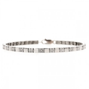 Bracelet diamants 0.92 carat en or blanc