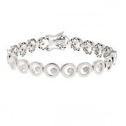 Bracelet diamants 0.63 carat en blanc