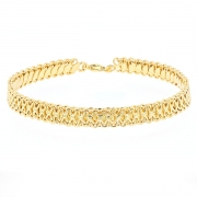 Bracelet maille contemporaine en or jaune