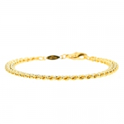 Bracelet maille contemporaine en or jaune 10.71grs