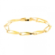 Bracelet maille contemporaine en or jaune 19.98grs