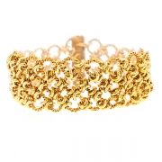 Bracelet maille contemporaine en or jaune 57.07grs
