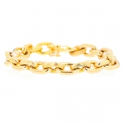 Bracelet maille contemporaine en or jaune 59.02grs