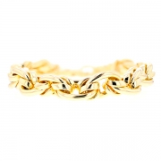 Bracelet maille contemporaine en or jaune 30.08grs