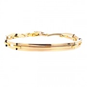 Bracelet maille contemporaine en or jaune 18.82grs