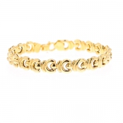 Bracelet maille contemporaine en or jaune 10.93grs