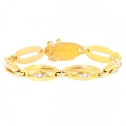 Bracelet diamants en or jaune
