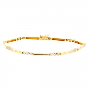Bracelet diamants 0.13 carat en or jaune