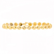 Bracelet rivière diamants 1.25 carat en or jaune