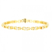 Bracelet rivière diamants 1 carat en or jaune