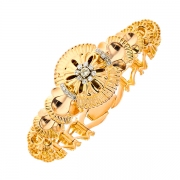 Bracelet vintage diamants en or jaune 54.86 grs