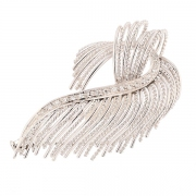 Broche vintage diamants 0.18 carat en or blanc