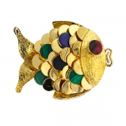 Broche poisson en or jaune 25.73 grs