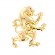 Broche lion rubis en or jaune 22.42grs