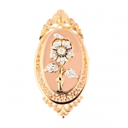 Broche ancienne diamants 0.11 carat en or rose