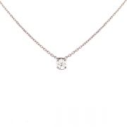 Collier diamant 0.55 carat en or blanc