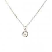 Collier diamants 0.42 carat en or blanc