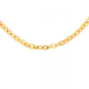 Collier maille contemporaine en or jaune 19.59grs