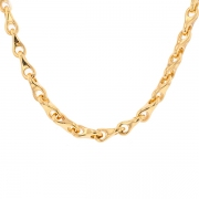 Collier maille contemporaine en or jaune 151.15grs