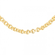 Collier maille contemporaine en or jaune