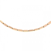 Collier maille fantaisie vintage en or rose