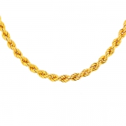 Collier maille corde en or jaune 19.24grs
