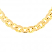 Collier maille haricot en or jaune