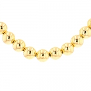 Collier maille boules en or jaune