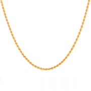 Collier maille corde en or jaune 14.94 grs