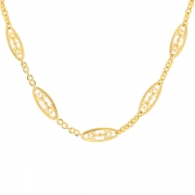 Collier maille filigrane en or jaune 31.41grs