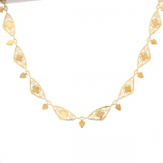 Collier maille filigrane en or jaune 21.10grs
