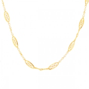 Collier maille filigrane en or jaune 11.45grs