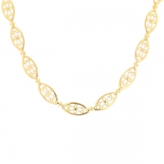 Collier maille filigrane en or jaune 21.96grs