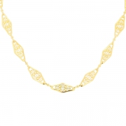 Collier maille filigrane en or jaune 18.13grs