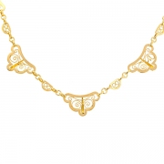 Collier maille filigrane en or jaune 9grs