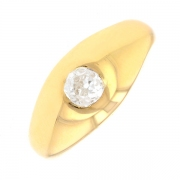 Bague jonc diamant 0.35 carat en or jaune
