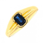 Bague saphir 0.60 carat en or jaune 4.11grs