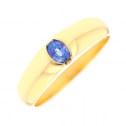 Bague saphir 0.30 carat en or jaune