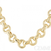 Collier Piery maille jaseron or jaune. Occasion