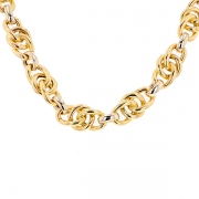 Collier maille contemporaine en or bicolore 26.41grs