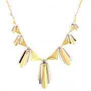 Collier vintage en or bicolore 20.83grs