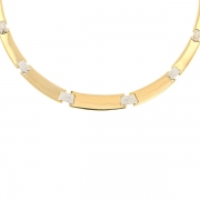 Collier diamants 0.42 carat en or bicolore