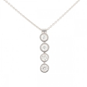Collier pendentif diamants 0.87 carat en or blanc
