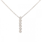 Collier pendentif diamants 0.54 carat en or blanc