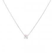 Collier diamant 0.71 carat en or blanc
